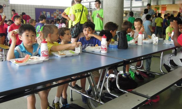 school lunch table. Two 10 Year-old\u0027s Talking At A School Lunch Table Changed My Struggling Church.