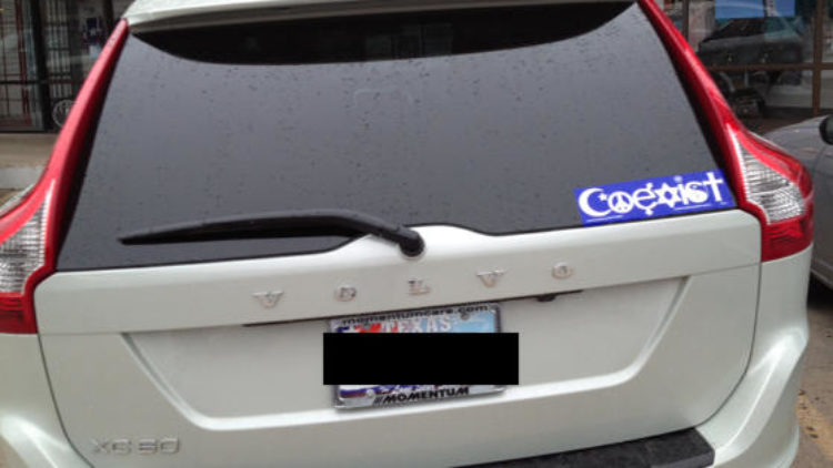 "Bumper Sticker Frustration: Four Reasons I am not a ""COEXIST""er"